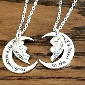 Jewelry - 2 Piece Mom & Daughter Necklace Set Heart Puzzle